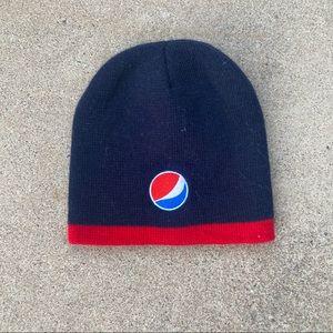 Vintage 2000s Pepsi Knit Beanie Sock Cap Hat Cold